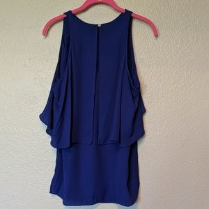 Vince Camuto Tops - Vince camuto xs blue sleeveless blouse